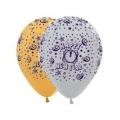 """Helium Ballonnen """"Bedrukt""""; """"Happy New Year"""" (Zilver)"""