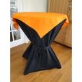 Statafel+Afrok Zwart+Oranje Afdekkleedje (kompleet)