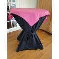 Statafel+Afrok Zwart+Roze Afdekkleedje (kompleet)