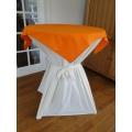 Statafel+Afrok Wit+Oranje Afdekkleedje (kompleet)