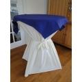 Statafel+Afrok Wit+Blauw Afdekkleedje (kompleet)