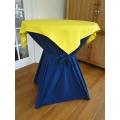 Statafel+Afrok Blauw+Geel Afdekkleedje (kompleet)