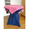 Statafel+Afrok Blauw+Roze Afdekkleedje (Kompleet)