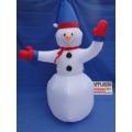 Huur 1x Opblaasbare Sneeuwpop, 2,40 meter groot